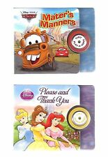 LOT 2 Disney CARS Princess MANNERS Please THANK YOU Sound MUSIC BOARD Books NEW
