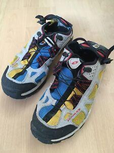 Salomon Techamphibian Sandalen Schuhe gebraucht UK 7,5 EUR 41 1/3