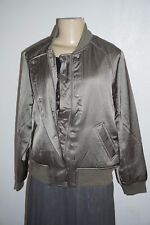 Abercrombie & Fitch Womens Satin Bomber Jacket
