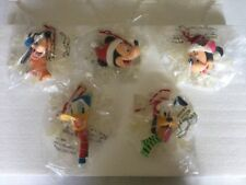 New In Box Mickey Minnie Mouse Goofy Pluto Donald Duck Snowflake Resin Ornaments
