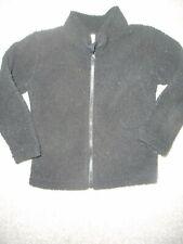 Jumping Beans Nwt Boy 4T solid black Ls fleece jacket full front zIpper Soft!