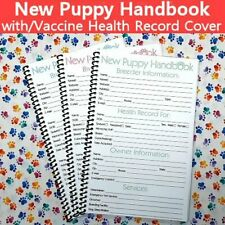 New Puppy Handbook With Canine Dog Vaccine Health Record Cover 32 Pages Bulk Opt