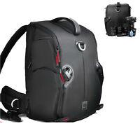 Delux DSLR SLR Camera Backpack Shoulder Bag Case Sony Canon EOS Nikon+Raincover