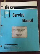 INTERNATIONAL NISSAN 300 400 SERIES DIESEL ENGINE SERVICE MANUAL 1982