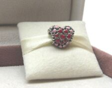 2018 Pandora w/Box Burst of Love Heart Red Pink Charm 796557ENMX Love Romance