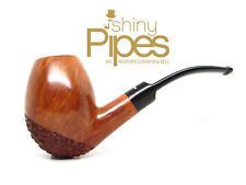 Don Carlos LARGE Stunning Dual Finish Bent Egg Estate Pipe - a65