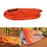 Notfallschlafsack Wasserdicht Überleben Camping Outdoor Reisen V4K6
