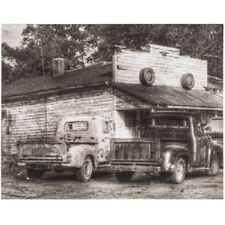 Black & White Vintage Truck Canvas Wall Decor Vintage Shop, Store, Home Decor