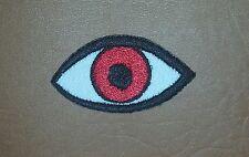 Eye Eyeball Tattoo Biker Horror Goth Punk Iron/Sew-on Embroidered Patch/ Logo