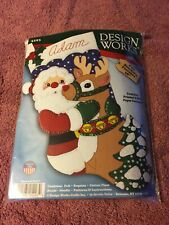 Santa & Deer Felt Stocking Kit