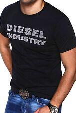 DIESEL Herren T-Shirt T-COOKIE Poloshirt Dunkelgrau/Weiß/Schwarz/Grau NEU
