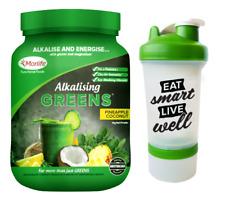 Morlife Alkalising Greens Pineapple Coconut 1kg | Alkalise + FREE Shaker Bottle
