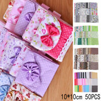 50Pcs Quilting Bundle Patchwork Cotton Fabric handmade Sewing Crafts Floral DIY