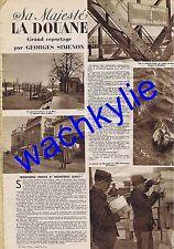 voila n°96 du 21/01/1933 Georges Simenon Douane Scize traite animaux
