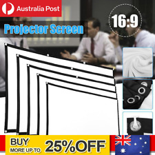 Portable Foldable Projector Screen 16:9 HD Outdoor Home Cinema Theater 3D Movie#