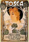 """Tosca 1899 By Puccini Vintage Poster Printed in France 20"""" x 28"""""""