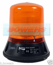 BRITAX B330.00.12V 12V 3 BOLT CAP168 AIRPORT STATIC/FLASHING AMBER/ORANGE BEACON