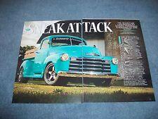 "1949 Chevy 3100 Pick Up Truck Article ""Sneak Attack""  Schwartz Performance Built"