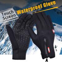 Men Women Winter Warm Windproof Waterproof Thermal Gloves Touch Screen Mittens