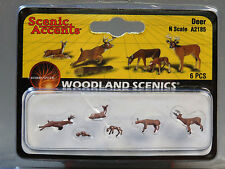 WOODLAND SCENICS N SCALE DEER figure animal doe buck fawn hunting WDS2185 NEW