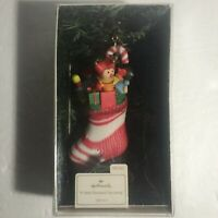 """A Well-Stocked Stocking"" Hallmark Dated Ornament 1981 w Box QX154-7"