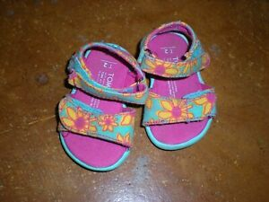 TOMS Floral Sandals Shoes Infant/Baby Size 2