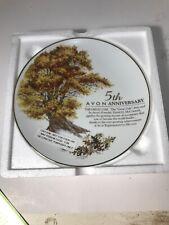 Avon 1989 5th Year Anniversary Porcelain Plate The Great Oak 22K Gold Trim