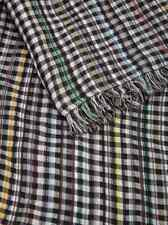 Paul Smith Scarf - Grey Signature Multi Stripe checked EXTRA LARGE RRP: £150
