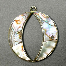 Jewelry Pendant Sterling Silver Abalone Aca Mexico - Acapulco - O