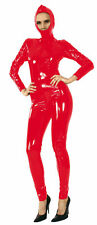 Ledapol 1516 étroite verni Overall Pvc Catsuit Capuche Overall Zipp Taille S - 36 rouge