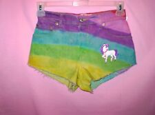 Rainbow Tie Dye High Waisted Shorts VINTAGE LEVIS