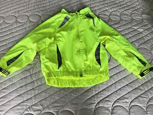 Childs Hi-viz fluroescent cycling jacket age 7-8yrs