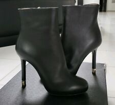 Chanel Black 15B Lambskin Leather Short Boots NIB 36