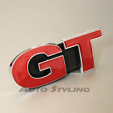 Red GT Grill Badge Emblem Logo For VW Golf Scirocco Passat CC Sport Car 19rg