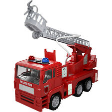 Fire Rescue Truck Car Water Hose Rotating Ladder Shooting Toy Vehicle Toys Kids