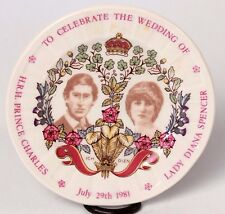 Prince Charles Lady Diana Spencer Wedding Butter Pat DIsh 1981 Mason Ironstone