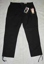 """TDU 5.11 TACTICAL TROUSERS """"BLACK"""" MEN'S 2XL, POLY/COTTON RIPSTOP, NWT'S!"""
