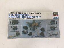 Vintage Hasegawa U S Aerospace Ground Equipment Set 1/72 scale Model *Sealed*