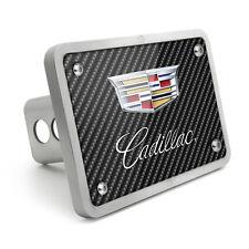 "Cadillac Crest Logo Graphic Carbon Fiber Texture Billet Aluminum 2"" Hitch Cover"