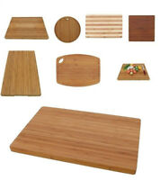 Premium Bamboo Cutting Board Wood - Large Small Thick Handle Options