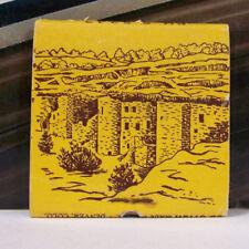 Rare Vintage Matchbook Cover L2 Manitou Cliff Dwellings Colorado Indians Curio