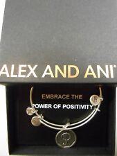Alex and Ani INITIAL P Charm Bangle Bracelet Raf Silver New W/Tag Box Card