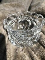 Imperial Crystal, Lead Crystal Bowl or Candy Dish, Christmas Gift Bag Design USA