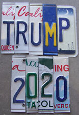 TRUMP 2020 LICENSE PLATE LETTERS/NUMBERS MAKE YOUR OWN SIGN