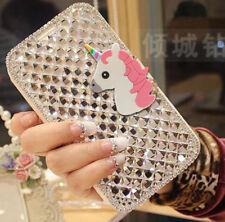 NUOVO Lusso Bling Unicorn Crystal Diamond WALLET FLIP CUSTODIA COVER PER ARCHOS