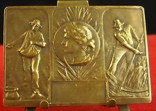 Medaglia Contadini nella lavoro/Bronzo dorato Medal 铜牌 fame on work