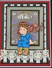 Best Wishes - Any Occasions - Magnolia Tilda princess -  Handmade card - BY DEE