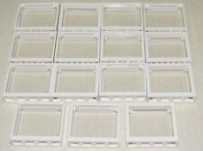 Lego X15 White Window Frame 1x4x3 With Trans-clear Glass Opening / Home Building