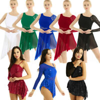 Women's Lyrical Leotard Skirt Dress Contemporary Leotard Ballet Dance Costumes