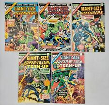 5) Marvel Comics Lot Giant-Size Defenders+Super-Villain Team-Up Nonconsec Avg-VF